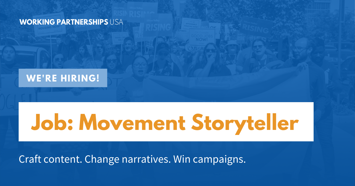 Job: Movement Storyteller — Craft content. Change narratives. Win campaigns.